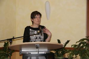 Begrüßung durch die Vorsitzende des Unterbezirks, Martina Baumann