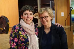 Martina Baumann mit Natascha Kohnen