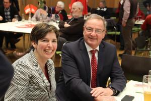 Gut gelaunt - Martina Baumann und Bürgermeister Bernd Ernstberger