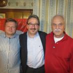 (v.l.) 1. Vorstand Matthias Hummel, Kassier und Bürgermeisterkandidat Manfred Räbel, 2. Vorstand Walter Herrmann