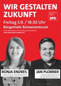 Veranstaltung im Landkreis-Süden mit Ronja Endres und Jan Plobner